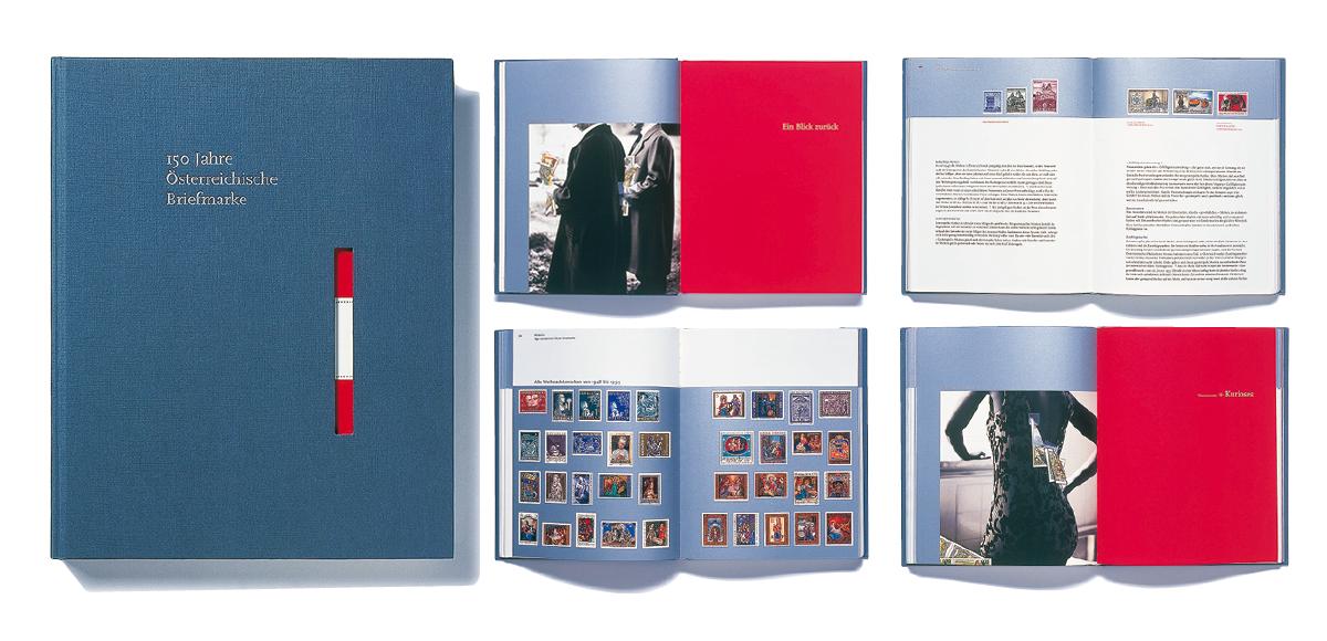 2000_JBA-AZ,DeutscherPreisfürKommunikationsdesign_150YearsOfAustrianStamps_Editorial